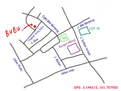 map to Bubu Restaurant