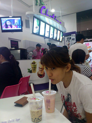 drinking Chatime