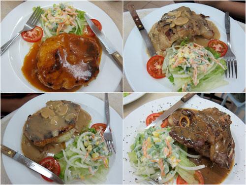 pork chop, chicken chop, lamb chop