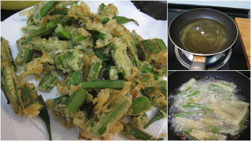 fried okra makes for awesome beer food