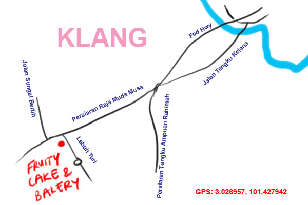 map to Fruity Cake and Bakery, Klang