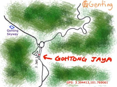 Gohtong Jaya map
