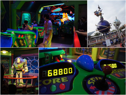 Tomorrowland and Buzz Lightyear Astro Blaster