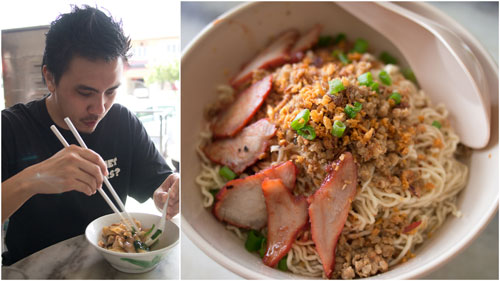 Michael ordered an extra bowl of kolo mee