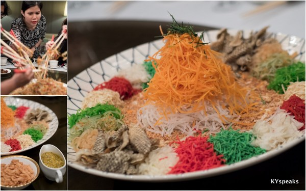 Bird's nest with passion fruit sauce yee sang