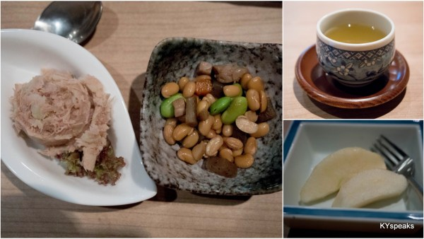 natto beans, Japanese pear