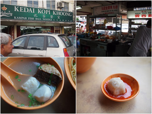 Kampar fish noodle - with variety of fishballs