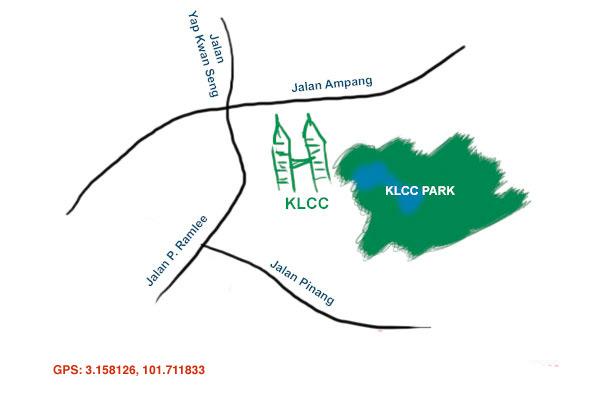 map of KLCC