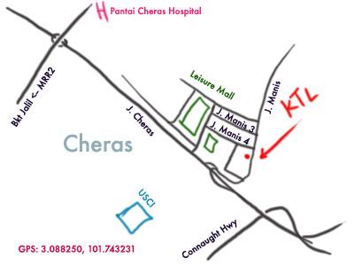 map to K.T.L at Taman Segar, Cheras