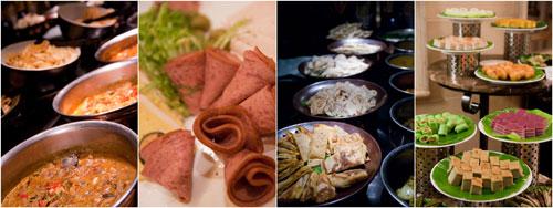many more dishes, including cold cuts at Satapan buffet