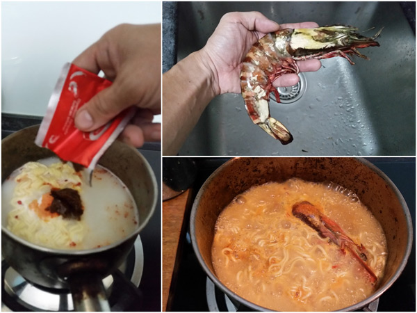 spice things up with a small prawn :D