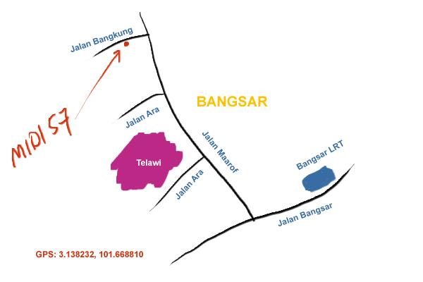 location map of Midi 57