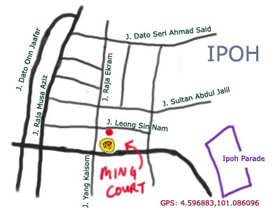 map to Ming Court Dim Sum at Ipoh