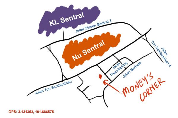 map to Money's Corner at Brickfield