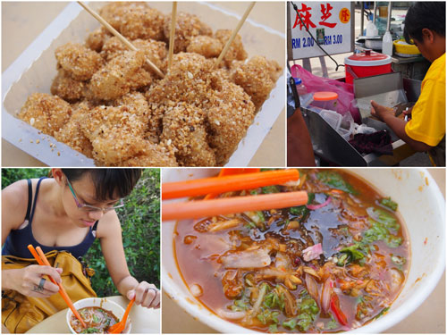 we shared a mua chee, and Haze had her 6th laksa or the trip or something