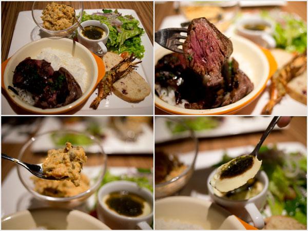 black angus steak platter