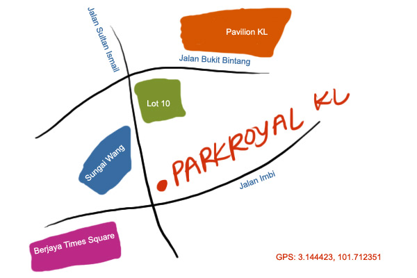 map to PARKROYAL KL