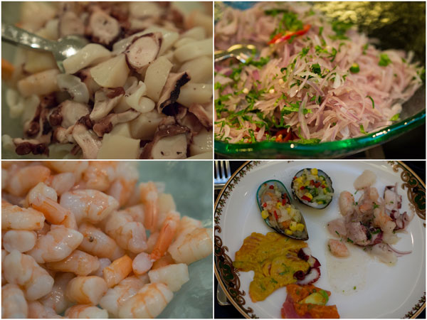 mix this up and you get a good plate of Ceviche - seafood goodness