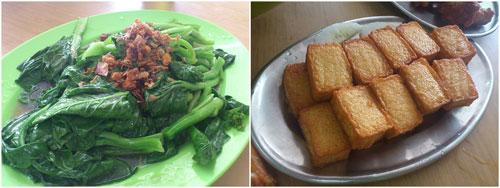 vegetable and seafood tofu