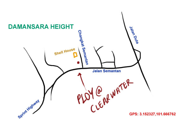map to PLOY at Clearwater