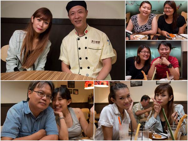 Cheesie, chef Lam Fai, Suanie, Joyce, Dennis & Evelyn, Haze