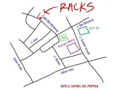 map to Racks at Changkat Bukit Bintang