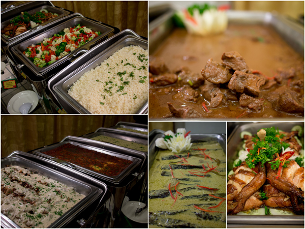 roast chicken, steamed rice, lamb curry, cat fish, even pasta