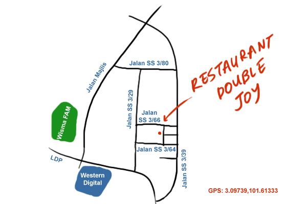 direction to Restaurant Double Joy