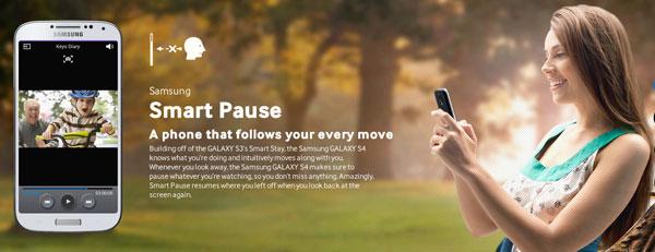 Samsung Galaxy S4 Smart Pause