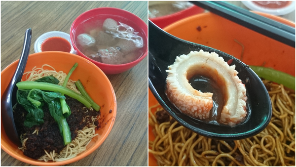 """the """"usual"""" mixed beef noodle, dry version"""