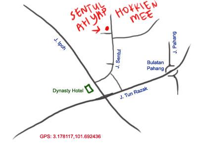 Ah Yap Sentul Hokkien Mee map