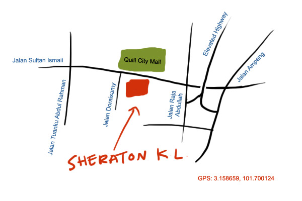 map to Sheraton Imperial KL Hotel