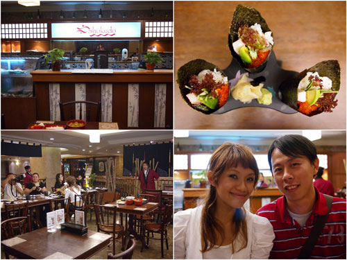 temaki, Haze & KY at Shokudo, Armada Hotel