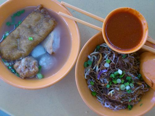 Kampar fishball noodle - dry version
