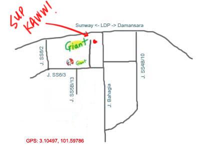 map to Sup Kaww at Kelana Jaya, Petaling Jaya