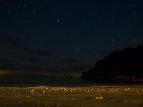 starlit sky at Pulau Tenggol