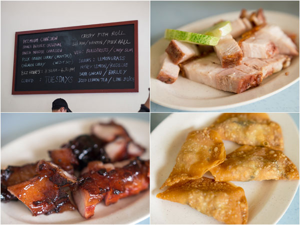 the roast pork is decent, and I quite enjoyed the sui kao (dumpling) too