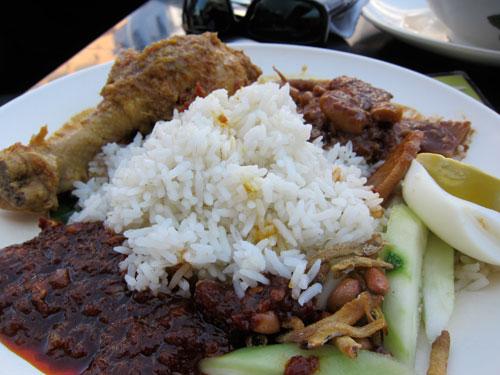 glorious nasi lemak with everything!