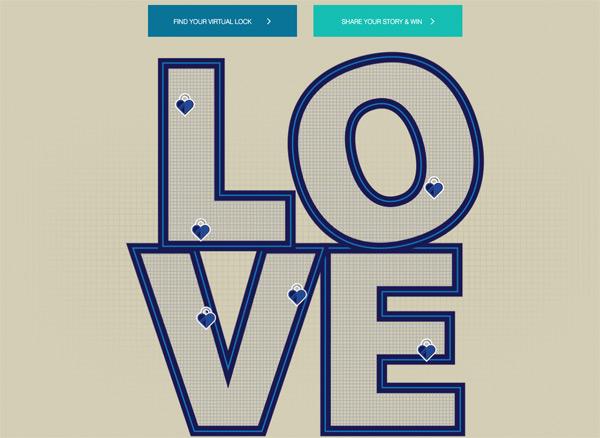 the virtual love lock at http://protecttruelove.com