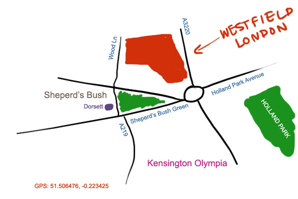map to Westfield London