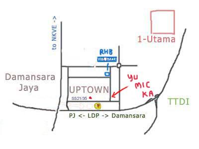 map to Yue Mic Ka at Damansara Uptown