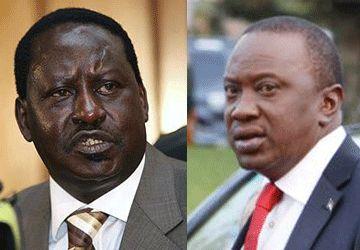 Les principaux candidats Raila Odinga et Uhuru Kenyatta. (Photos: AP)