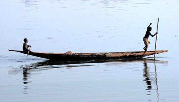 Dans le delta du Niger.