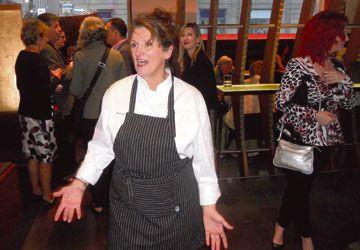 La chef Chantal Véchambre au Blowfish dimanche soir.