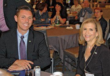 Patrick Brown et Gila Martow au Grand Rassemblement 2015.