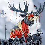 L'illustration de l'affiche du festival Blood In The Snow 2015.