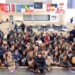 110 élèves de Viamonde inscrits au BI ont participé au Forum à l'école Jeunes sans frontières.