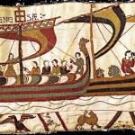 Une scène de la Tapisserie de Bayeux, La grande traversée.
