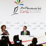 Michaelle Jean et Justin Trudeau au Sommet de Madagascar.