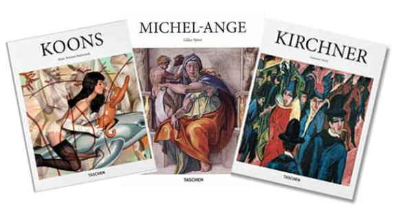 Ouvrages de la Petite Collection des éditions Taschen. Tous sont reliés, de format 26 x 24 cm, sous jaquette reproduisant une œuvre de l'artiste, 96 p. Disponibles en français au Canada.